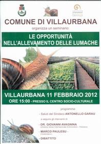 Seminario 'Le opportunità nell'allevamento delle lumache'
